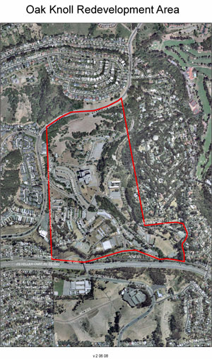 Oak Knoll Redevelopment Map - Small