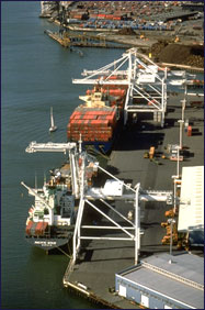 Photo of the Sea Port of Oakland