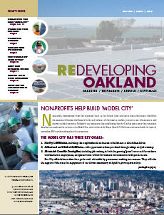 Cover image of Redeveloping Oakland newsletter Fall 2009