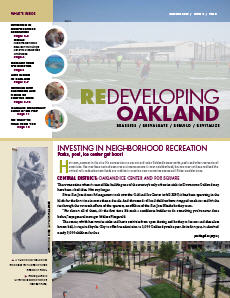 Cover image of Redeveloping Oakland newsletter Summer 2009