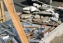 Photo of construction debris separation