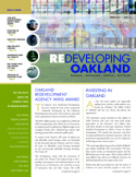 Image of the front cover of the Spring 2011 Redeveloping Oakland Newsletter