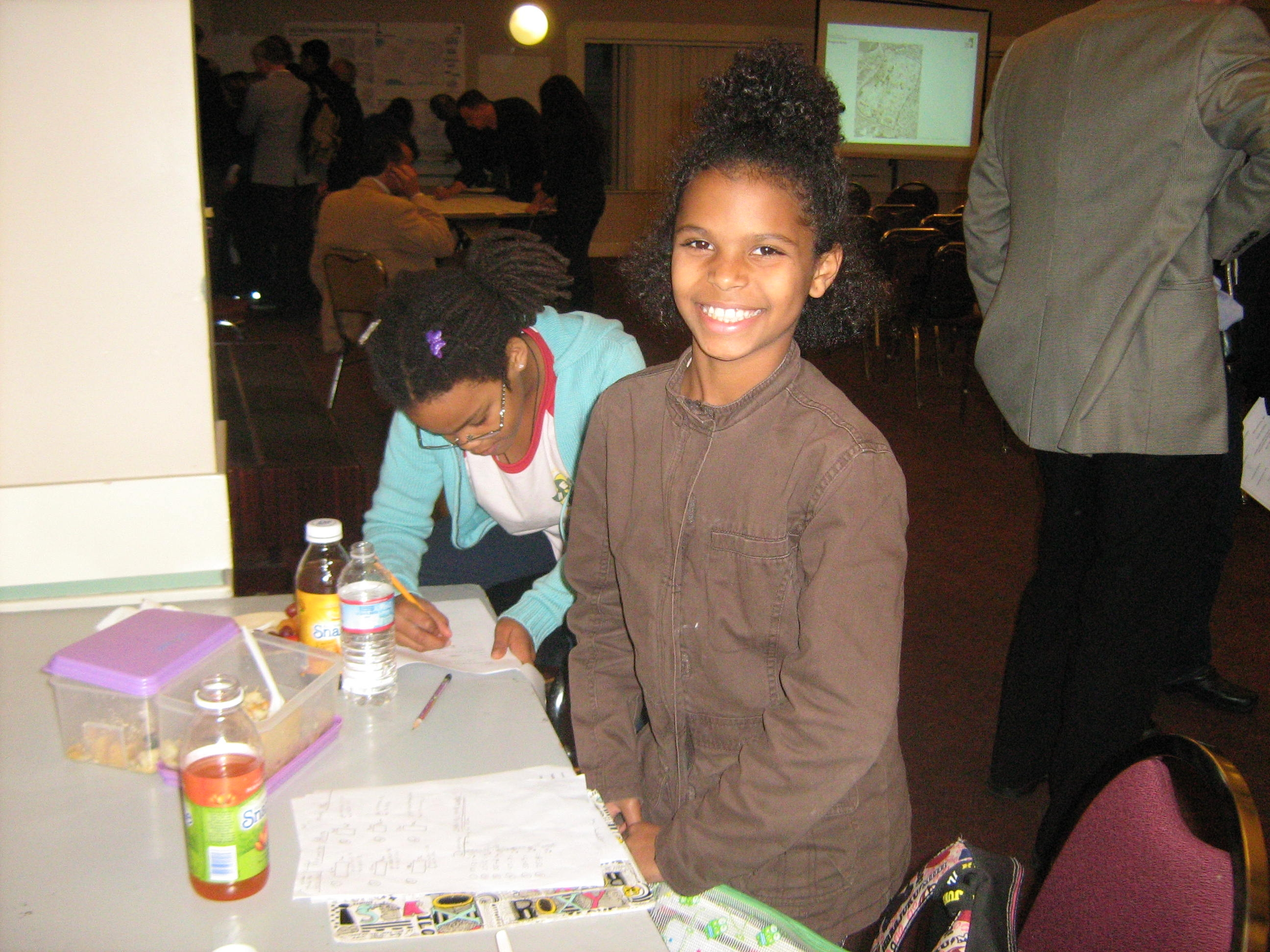 Children participate in the community workshop