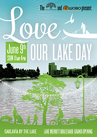 Photo of front of Love Our Lake Day postcard