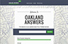 "City of Oakland Launches ""Oakland Answers"""