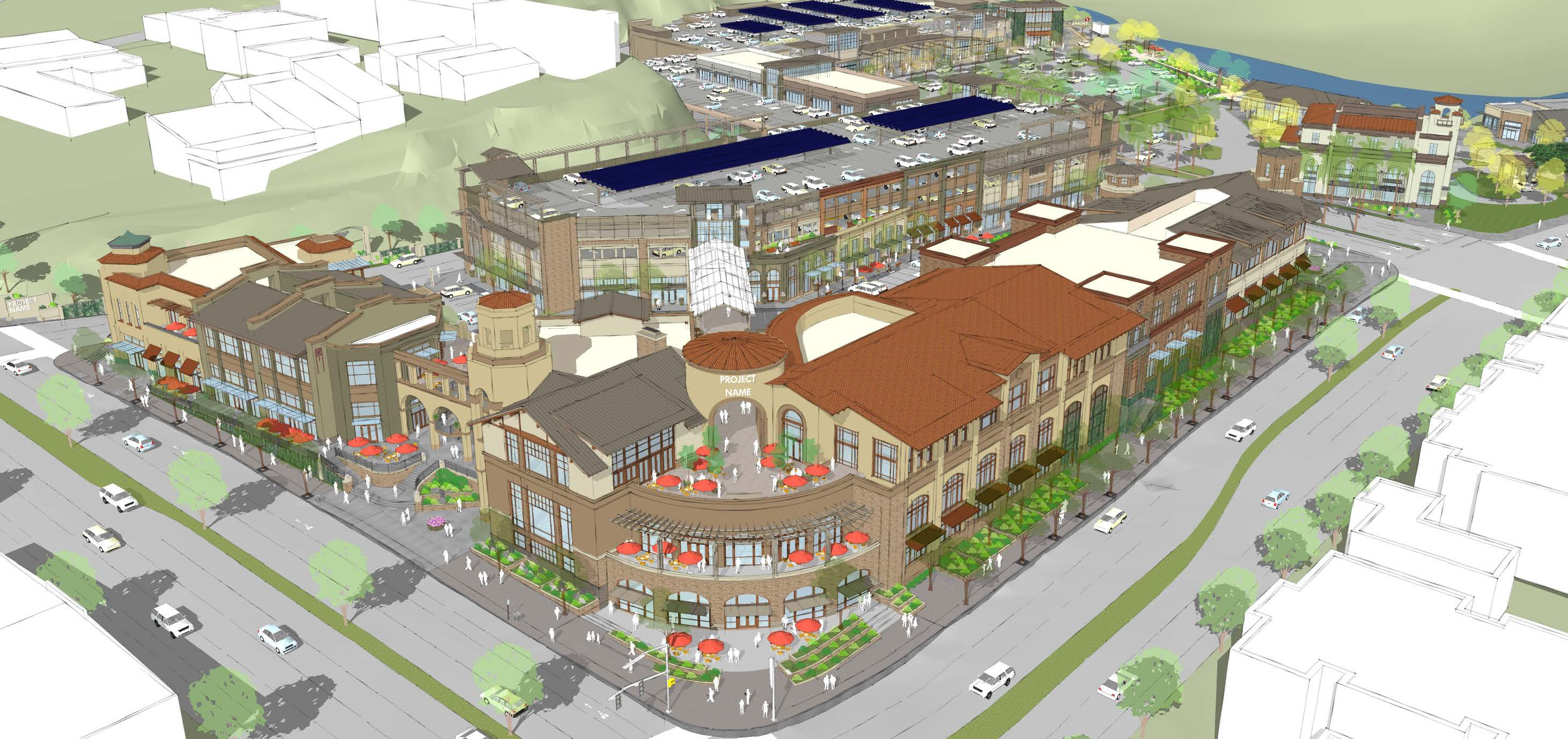 Rendering of proposed Safeway project at Broadway and Pleasant Valley