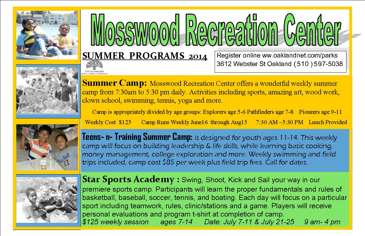 Photo of Mosswood Recreation Center Summer Programs 2014