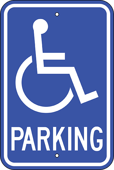 photo of disabled parking sign