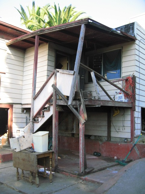 Damaged Deck and Stairs