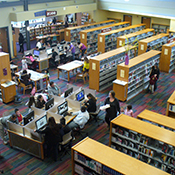 photo of the interior of the 81st Avenue East Oakland Community Library