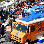 photo of food truck at the Eat Real Festival in Jack London Square