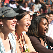 photo of audience members enjoying themselves at Art & Soul