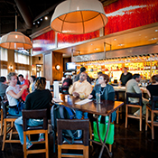 photo of an interior of a restaurant in the hip Uptown Arts & Entertainment District