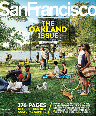 photo of front cover of June 2014 Oakland Issue of San Francisco magazine