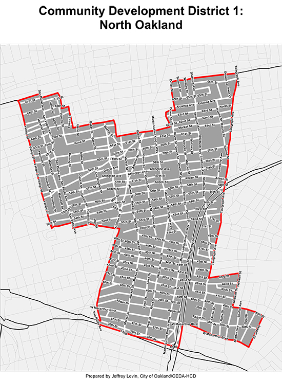FIP - North Oakland Map