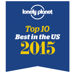 logo for Lonely Planet Top 10 Best in US 2015