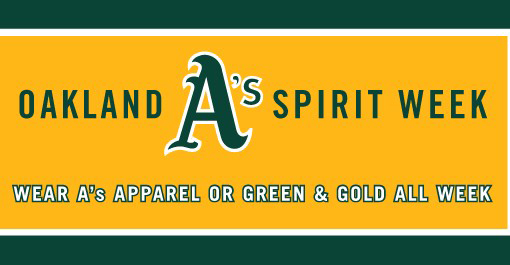 image of A's spirit week banner