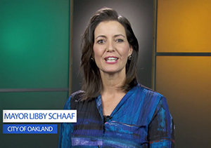 Image of Mayor Schaaf from video explaining the difference between one-time versus ongoing funds as well as restricted and unrestricted funds