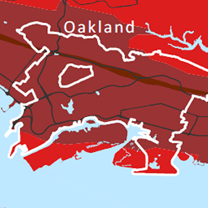 Thumbnail Image of shake map of Oakland