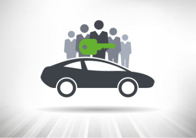 Icon of Car Sharing Vehicle