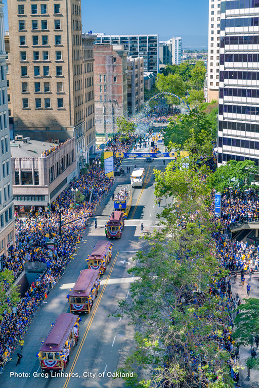 2015 Warriors Parade in downtown Oakland