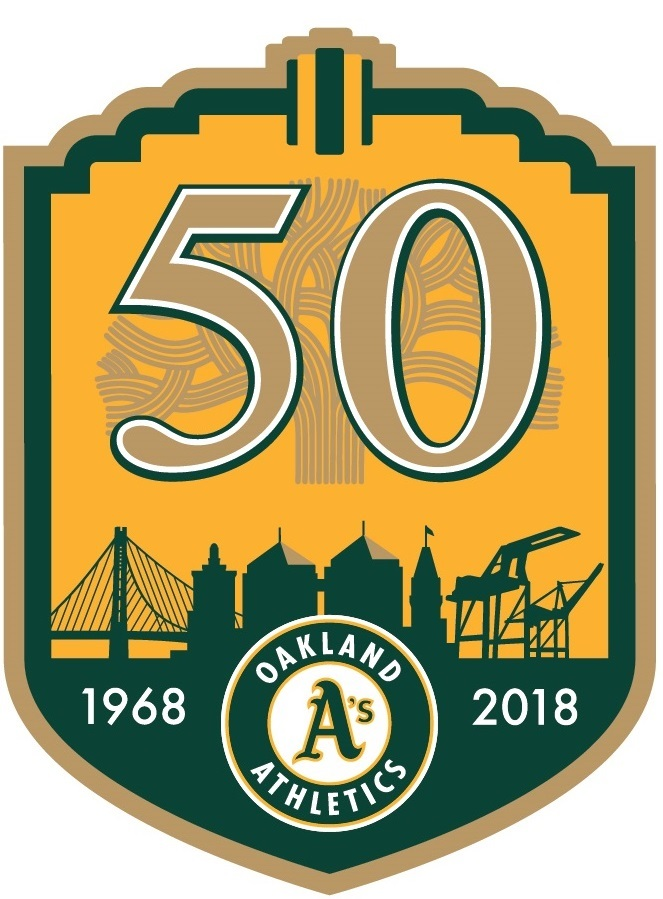 50th Anniversary logo for the Oakland A's
