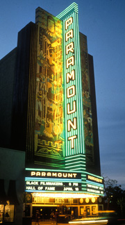 Paramount Theatre facade on the Oakland Tours