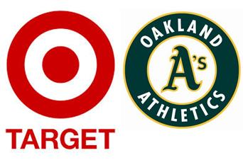 Oakland Athletics Icon and Target Corporation Icon Combined