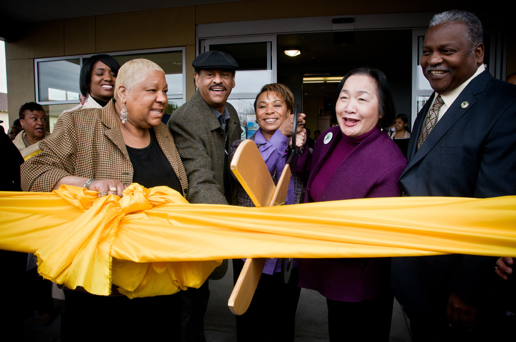 photo of 81st Ave Ribbon Cutting
