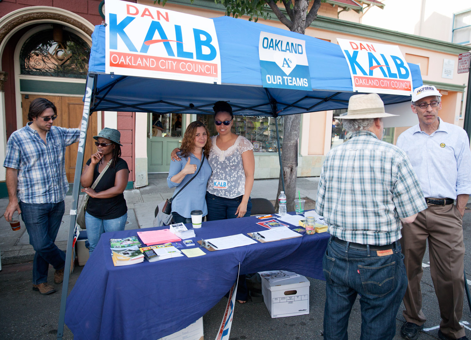 Photo of Councilmember Kalb and staff at the Rockridge Out and About 2013