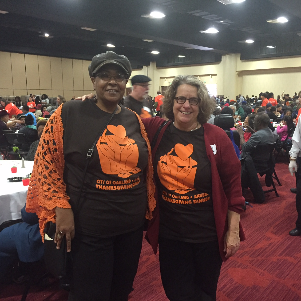 Image of Thanksgiving Dinner 2015 Susan Shelton and Sara Bedford