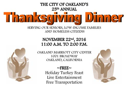 Flyer Thanksgiving Dinner on November 22