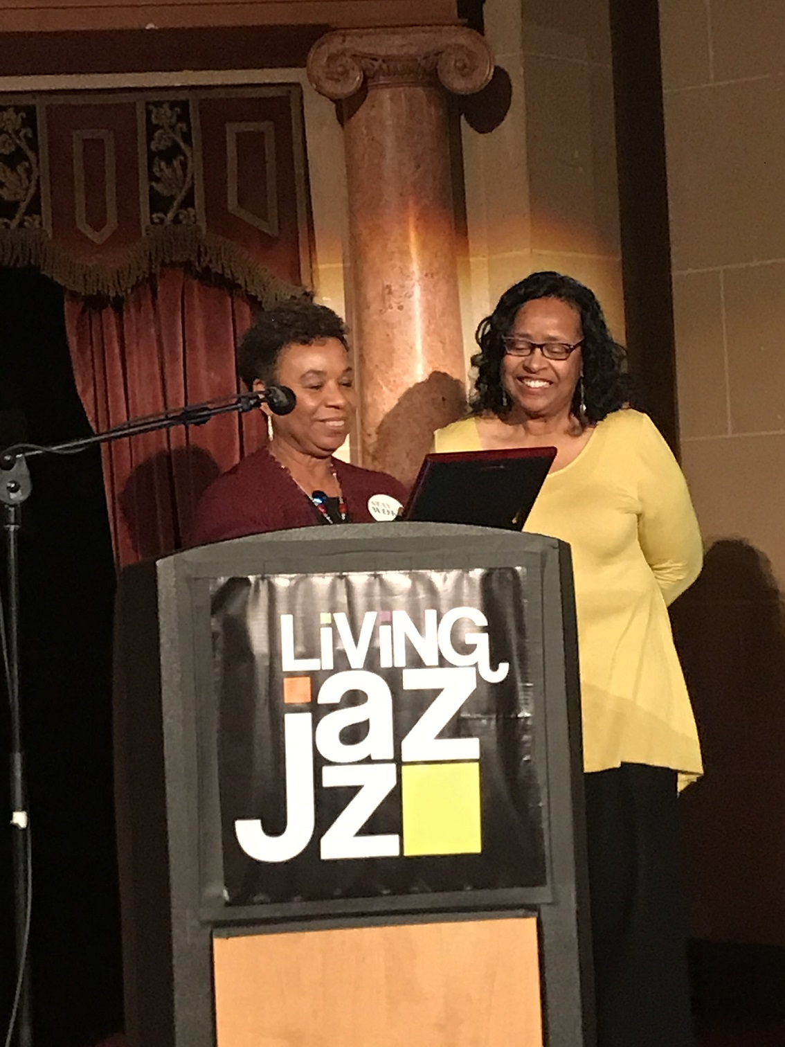 Wendy Jackson and Barbara Lee