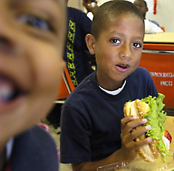 Photo of a children eating