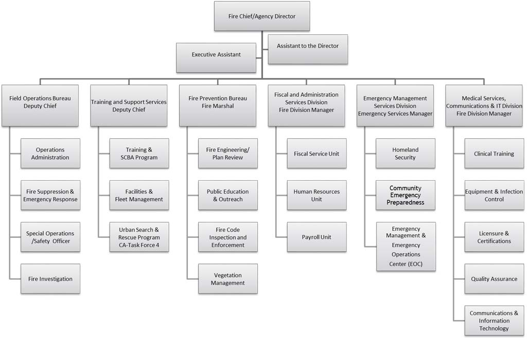 Organization Chart City Of Oakland California