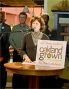 Jane Brunner at the Oakland Grown Launch