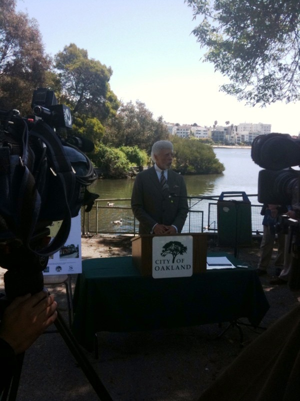 Mayor Announces Stimulus Projects to Keep Lake Merritt Clean