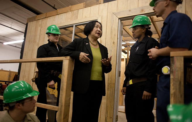 Photo of Jean Quan with Green Builders