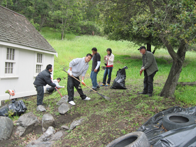Photo of The Abbey Cleanup in Joaquin Miller Park