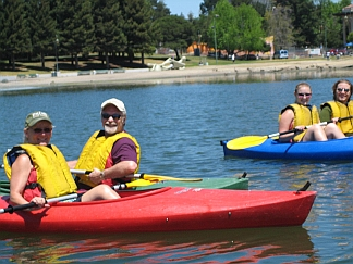 Photo of Adult Kayakers in Lake Merrit