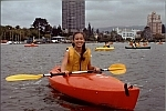 Photo of a Smiling Kayaker