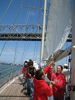 Photo of a Class Raising the Sail