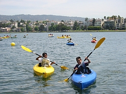 Photo of Boys in Kayaks