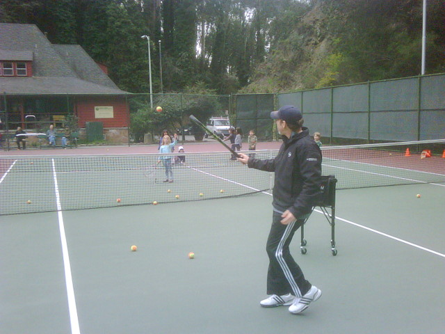 Photo of Davie youth tennis class