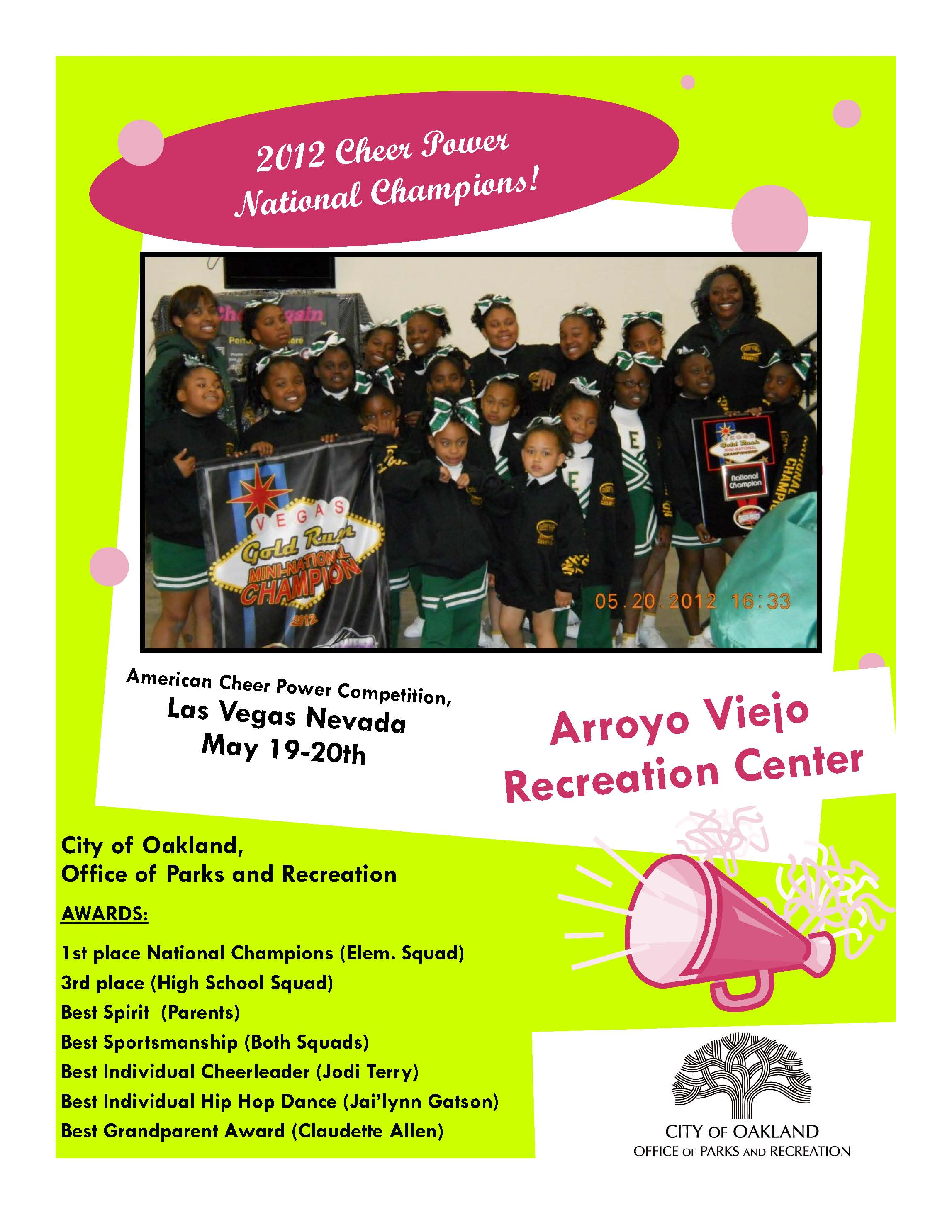 Arroyo Viejo Cheer