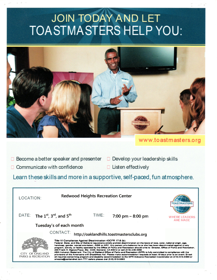 Toastmasters at Redwood Heights (1)