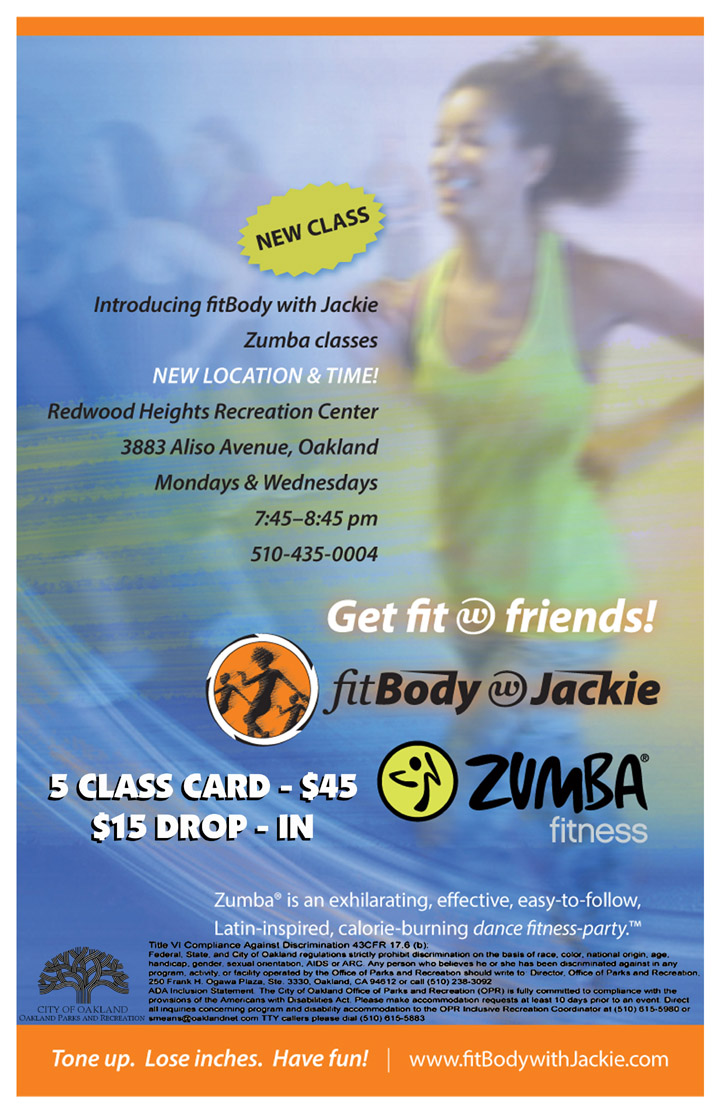 Zumba at Redwood Heights Recreation Center