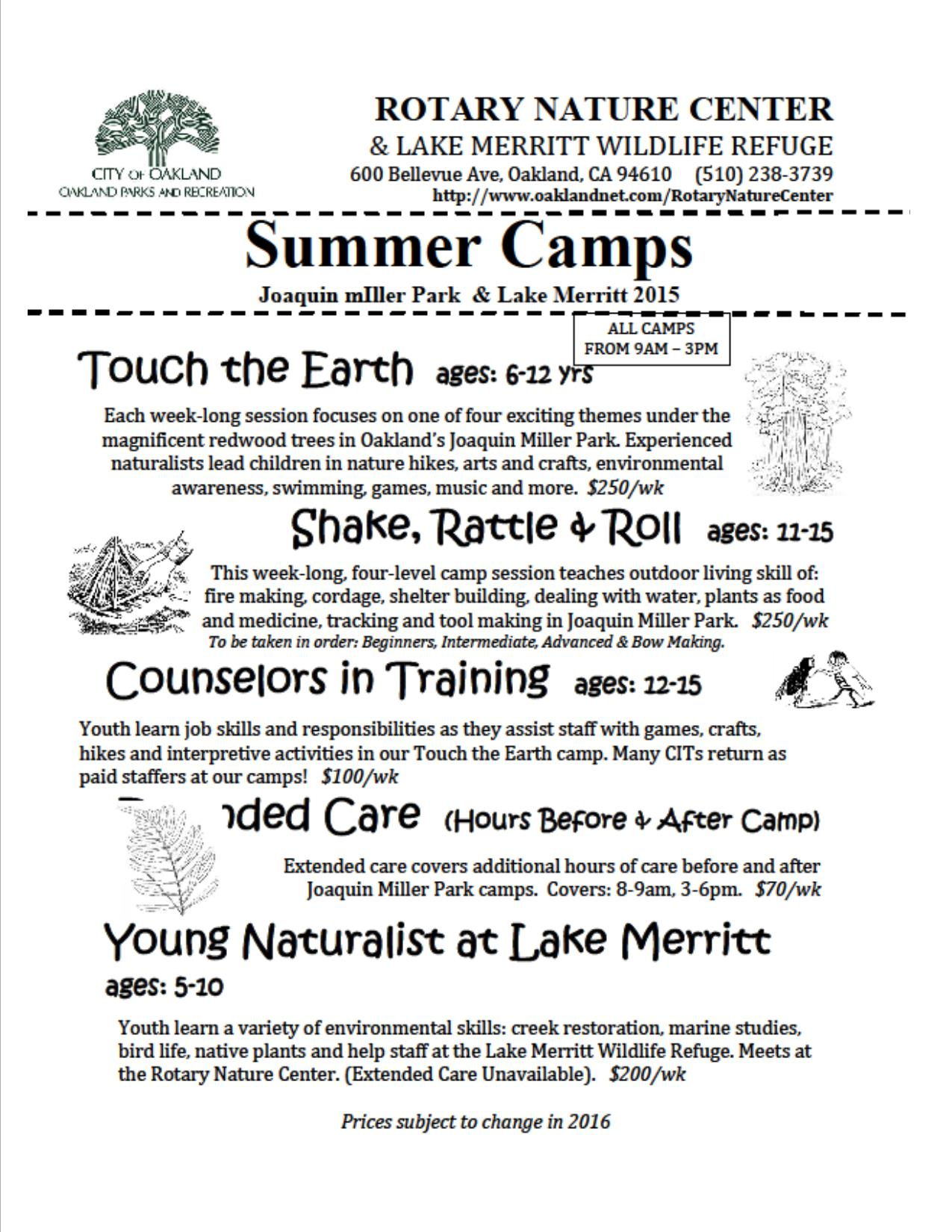 OPR Rotary Nature Center Summer Camp