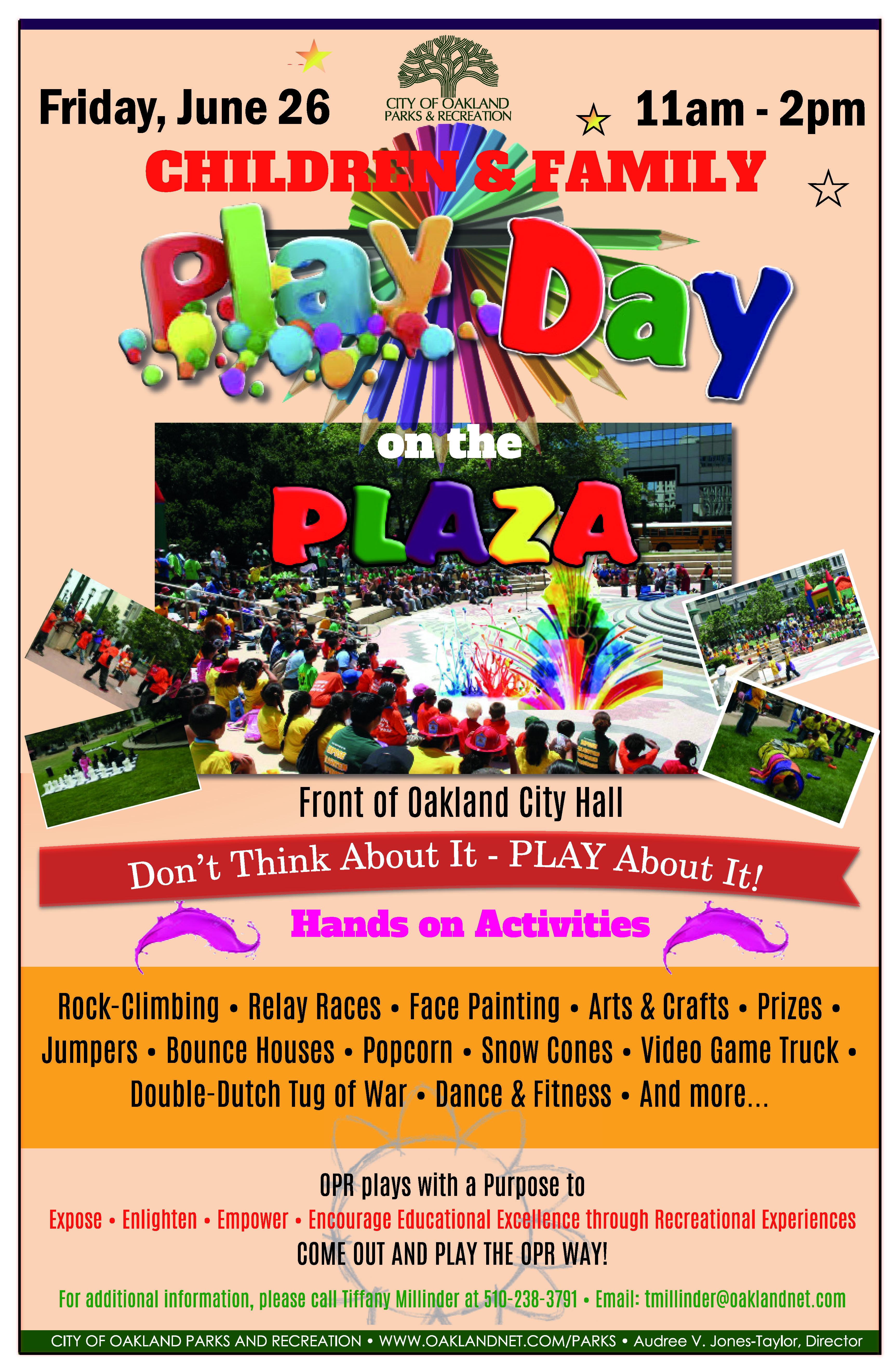 Childrens Play Day on the Plaza