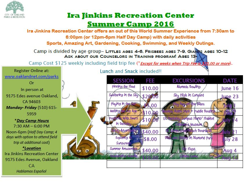 ira jinkins summer camp